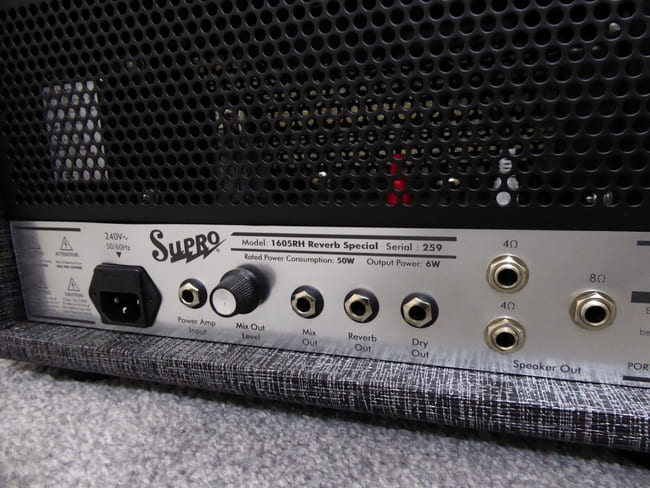 Supro 1605RH Reverb Special Back Panel